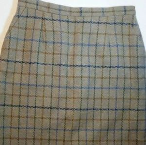 Pendleton Plaid Wool Pencil Skirt Women's Size 14